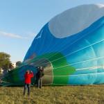 Ballon gonflé- Montgolfiade