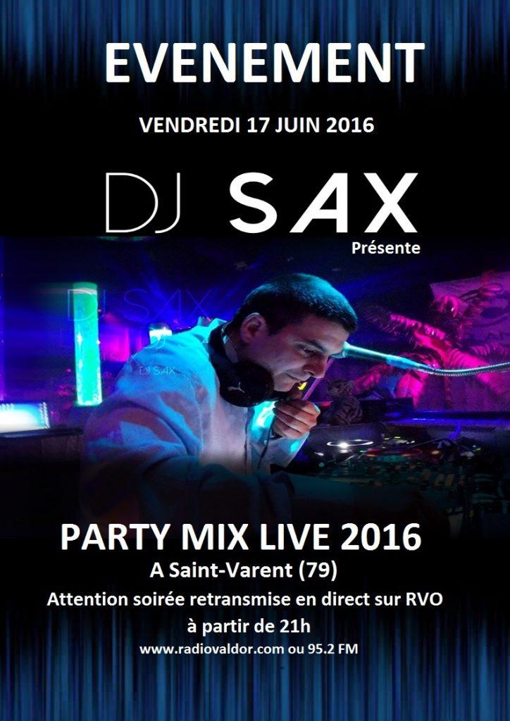 affiche Party Mix Live 2016